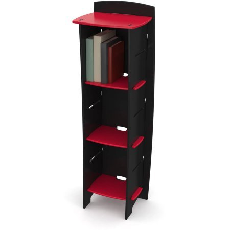 Legare Kids Furniture 3-Shelf Bookcase - Red and Black