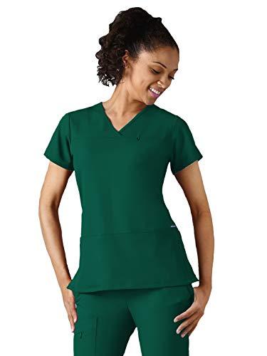 - Jockey® Scrubs 2299 Ladies Zippered Pocket Crossover Neck Scrub Top Spruce-Hunter XL