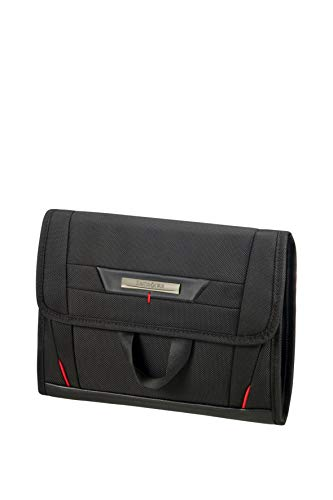 (Samsonite Pro-DLX Cosmetic Cases Hanging Toiletry Bag, 26 cm, Black)