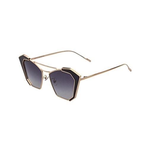 HAOYUXIANG Herrenmode Polarisierte Sonnenbrille Retro-Trend,BlackFrameGrayFilm