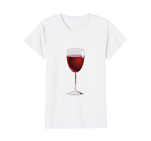 Womens Wine Glass Costume T-Shirt Matching Cheese Wedge Pair Tee Medium - Costumes Female With Glasses