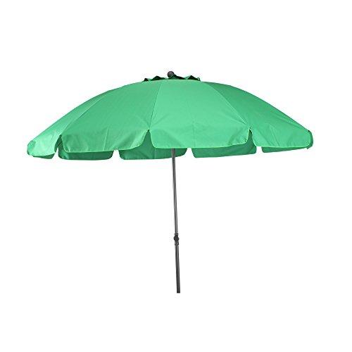 GoodSun Sombrilla de jard/ín BE 8 Piezas 200 cm Verde Oscuro