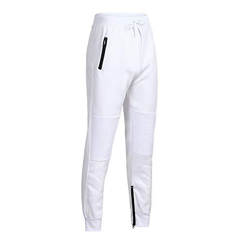 uomo Autunno Bianca Cargo Joggers Uomo Pantaloni Cerniera Inverno Tuta Della Styledresser Patchwork q7UTwaC7