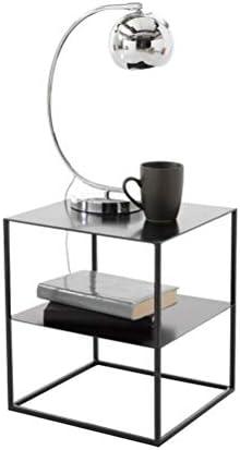Krijgen Huishoudelijke Double Side Koffietafel Plein Side Table Modern Simple Nachtkastje Decoration Stand Black 4.11 W6PsaZ9