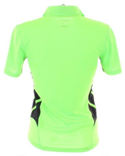 Protector de pantalla Gamegear Cooltex mujer tejido de Wear de manga corta de mujer extractor de costillas de entrenamiento para dejar Polo para cuello pantallas planas o espacios Fluorescent Lime/Black