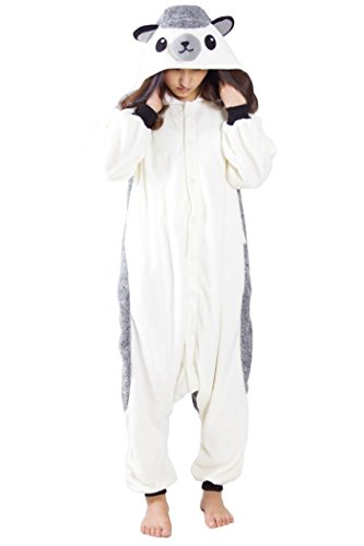 Lifeye Unisex Hedgehog Pajamas Adult Animal Cosplay Costume Gray -