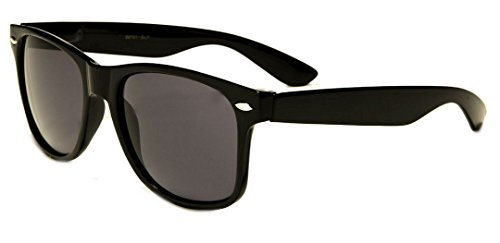 Sunglasses Classic 80's Vintage Style Design (Black Classic) -