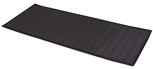 BirdRock Home Indoor Outdoor Floor Runner | Non Slip Floor Mat for Kitchen Hallway Bath Office | 24 x 60 Inches | Black - Outdoor Floor Runner