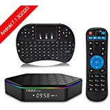 Android 7.1 TV BOX Amlogic S912 Octa Core 3GB/32GB Dual Band Wifi 2.4GHz/5.0GHz 4K HD TV BOX with Mini Wireless Keyboard