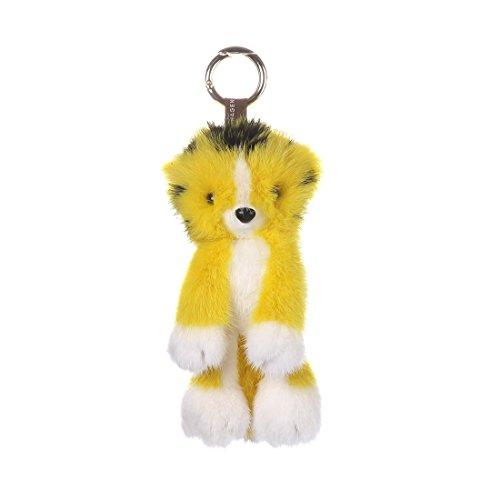 URSFUR Mink Stuffed Tiger Doll Fur Keychain Bag Charm Pendant Monster Toy Phone Tassel Key Chain Hook Accessory by URSFUR (Image #1)