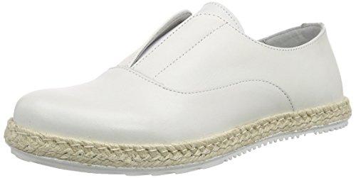 Mujer Sh SHOOT Shoot Blanco Slipper blanco Shoes Damen Leder blanco Mocasines 150080ff Sommer qqzEfwpr