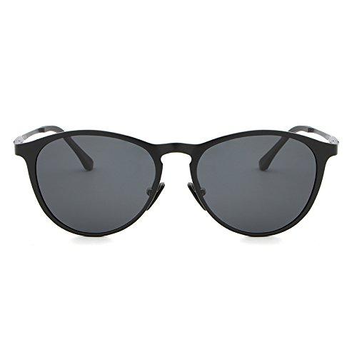 Sunglass Sol Gafas Retro Vintage Unisex oculos Accesorios Yao Black Gray de de Color Gafas Sol Black gray Polarized wXtq7cA5