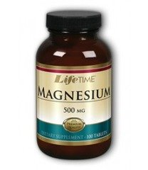 Lifetime Magnesium 500 Mg Mineral Supplements, 100 Count