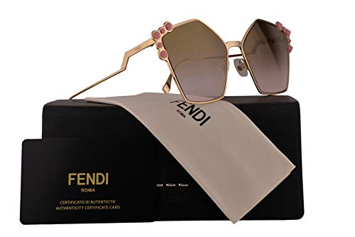Fendi FF0261/S Sunglasses Rose Gold w/Brown Gradient Lens 57mm 00053 FF0261S FF 0261S FF 0261/S