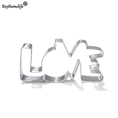 Stainless Cookie Cutter - Lover Design Cookie Cutter Stainless Steel Love Letter Shape Bakeware Pastry Confectionery C - Hero Quilt People House Bulk Engagement Jalapeno Bunny Heart Feather