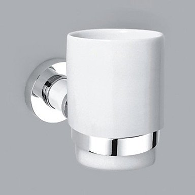 SK- Chrome Finish Contemporary Style Brass Wall Mounted Single Cup Toothbrush Holder