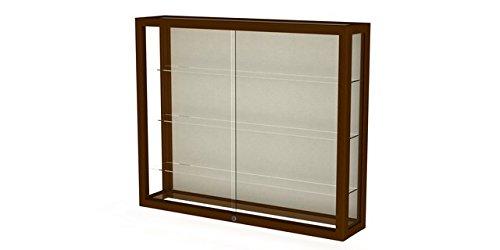 Heirloom Series Wall Display Case Frame Color: Carmel Oak, Case Backing: (Heirloom Series Display Case)