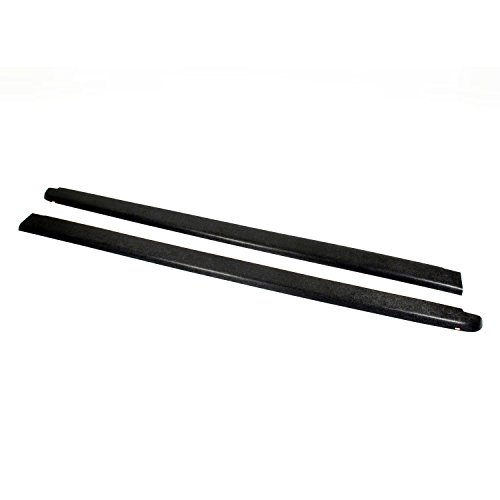 Wade 72-40104 Truck Bed Rail Caps Black Smooth Finish without Stake Holes for 2007-2014 Chevrolet Silverado 1500 2500 with 6.5ft bed (Set of 2)