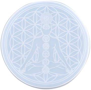 spier Hars schimmel Tarot waarzeggerij Mat DIY Crystal Epoxy Mold DIY Crystal Epoxy Mould voor waarzeggerij Decoraties