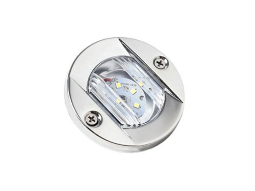 Five Oceans LED Round Stern White Transom Light- BC (Led Round Transom Light)