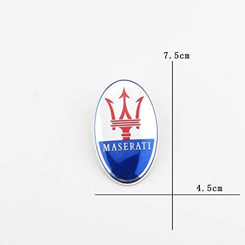 D28JD Emblema Logo per Le Lettere Cofano ABS Cover Adesiva Personalizzata per Il Presidente di M-aserati V6 Ghibli