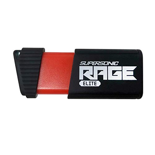 Patriot 512GB Supersonic Rage Elite USB 3.1 Type A, USB 3.0 Flash Drive with Transfer Speeds of Up to 400MB/sec