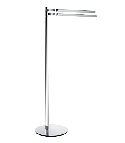 Smedbo FK315 Double Towel Rail Free Standing, Polished Chrome,
