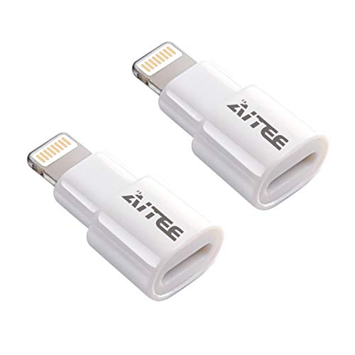 Extender Adapter,AITEE Dock Extension Connector for Lifeproof Otterbox Case Compatible with iPhone 5/5s/5c/SE/6/6S/7/8 Plus/X and iPad (White ()