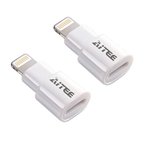 [해외]Extender AdapterAITEE Dock Extension Connector for Lifeproof Otterbox Case Compatible with iPhone 55s5cSE66S78 PlusX and iPad (White 2pack) / Extender Adapter,AITEE Dock Extension Connector for Lifeproof Otterbox Case Compatible wi...