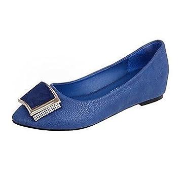 L&H estimadas del Zapato de mujer zapatos de tacón plano confort/Round Toe/Cerrado