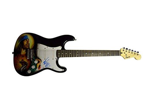 - Axl Rose Autographed Signed Airbrushed Jesus Guitar AFTAL UACC RD COA