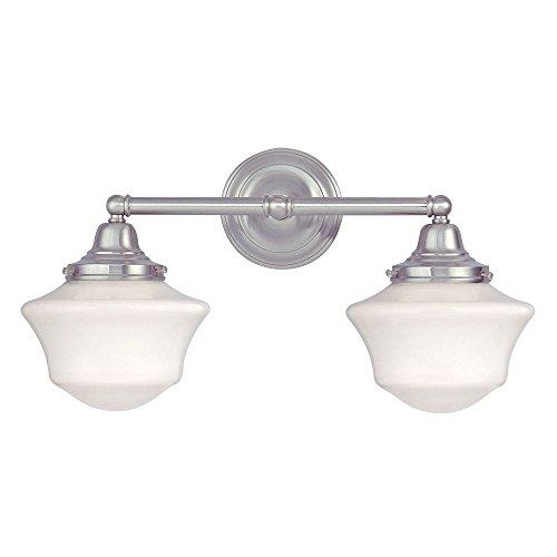 Design Classics Schoolhouse Bathroom Light with Two Light...