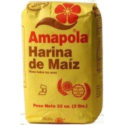Amapola All Purpose Corn Meal (Harina de Maiz) by Molinos de Puerto Rico - 32 oz pack (Count of 2)