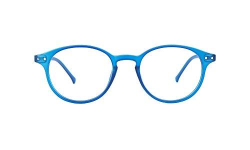 (My Blue Protect®, Blue Light Blocking Eyes Glasses, Anti-Fatigue, UV Filters (W001 Adult) (Bleu Jeans Mat) )