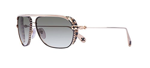 Chrome Hearts - Boneyard I - Sunglasses (Shiny Black/Gold Plated with Side Shield, Dark Gray - Luxury Buy Online Sunglasses