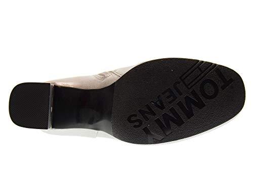 Size Boots Woman Metallic Hilfiger 000 39 Silver Ankle He Shoes En0en00280 Tommy Crackled vw1RqACRH