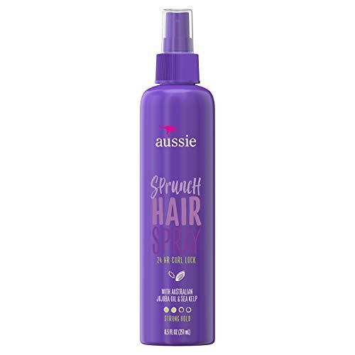 Aussie Sprunch Non-Aerosol Hairspray with Jojoba Oil & Sea Kelp For Curly Hair 8.5 fl oz ()
