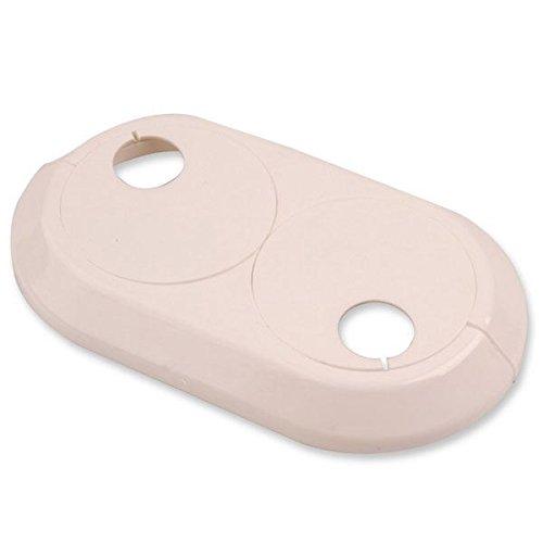 Doble pvc 15mm radiador blanco de tuberías de agua de plástico rosa collar de la cubierta: Amazon.es: Bricolaje y herramientas