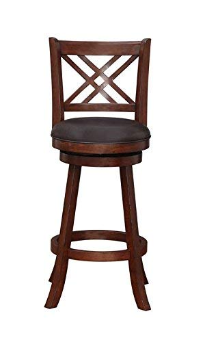 Boraam 65729 Porto Bar Height Swivel Stool, 29-Inch, Hazelnut (Set Room Merlot Dining)