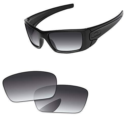 PapaViva Lenses Replacement for Oakley Fuel Cell Grey Gradient - Polarized (Schwarz Oakley Fuel Cell Sonnenbrille)