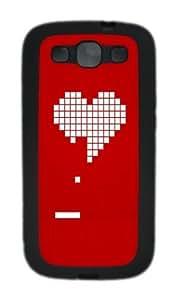 8 Bit Heart Valentines Day Custom Design Samsung Galaxy S3 Case Cover - pc - Black