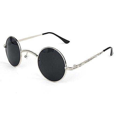 6de4037815 Buena juqilu Hombres Mujeres Retro Vintage Gafas de Sol UV400 Gótico  Steampunk Pequeñas Gafas de Sol