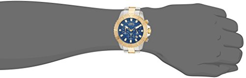 Invicta Men's 'Pro Diver' Quartz Stainless Steel Casual Watch, Color:Two Tone (Model: 24002)