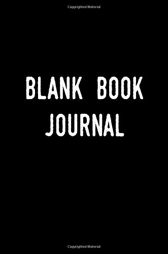 Blank Book Journal: 6 x 9, 108 Lined Pages (diary, notebook, journal)