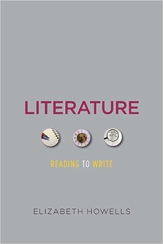 Amazon.com: Literature: Reading to Write (9780205834303): Elizabeth Howells: Books
