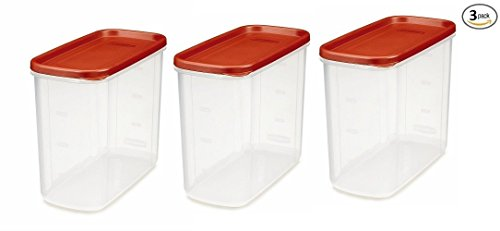 Rubbermaid 16-Cup Dry Food Container Pack of 3 (Rubbermaid Large Canister)