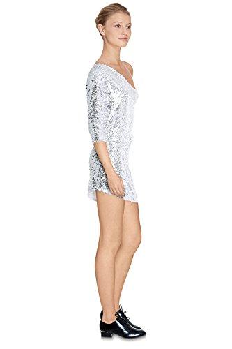 PARIS CHERRY Silber Kleid Kleid Damen qwBgBXv