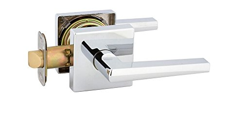 Dummy Soho Handleset (EZ-Set BP515AM-SH-US26D SoHo Contemporary Square Rosette Dummy Lever by EZ-Set, Satin Chrome)
