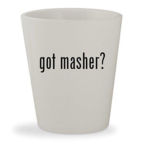 got masher? - White Ceramic 1.5oz Shot Glass