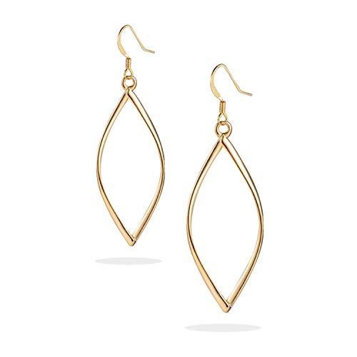 KINGSIN Gold hoop Earrings Infinity Dangle for Women Girls ()